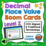 Decimal Place Value Boom Cards Level 2 (with Audio Read-Al