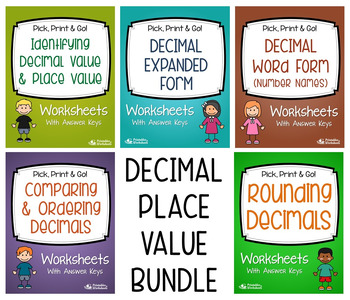 Place Value with Decimals (with Expanded Form/Word Form, Rounding Decimals)
