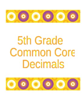 Decimal Place Value Candy Corn Comparisons