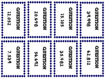 Decimal Place Value Card Game!
