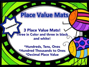 Place Value Charts (Includes Decimal Place Value!)