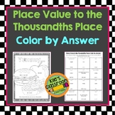 Decimal Place Value Color By Answer Place Value to the Thousandths Place