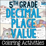 Decimal Place Value Coloring Activities