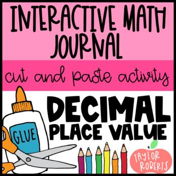 Decimal Place Value Cut & Paste - Common Core Aligned