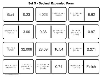 Decimal Place Value Dominoes
