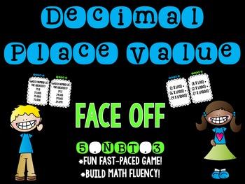 Decimal Place Value Face Off 5.NBT.3