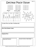 Decimal Place Value Fill-In Resource