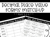 Decimal Place Value Forms Match Up