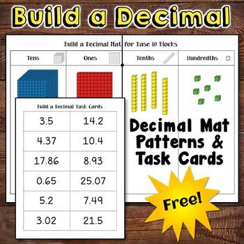 decimal place value freebie by laura candler teachers pay teachers. Black Bedroom Furniture Sets. Home Design Ideas
