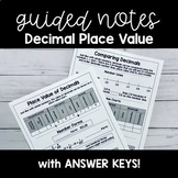Decimal Place Value GUIDED NOTES