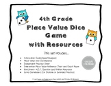 Place Value Game - Dice Game and Activities Set NO PREP 4th Grade