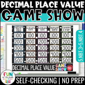 Decimal Place Value Game Show PowerPoint Game | Test Prep Review Game