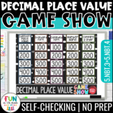 Decimal Place Value Game Show PowerPoint Game | Test Prep
