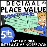 Decimal Place Value Interactive Notebook Set   Distance Learning