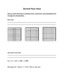 Decimal Place Value Interactive Notes