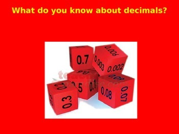 Decimal Place Value-Interperting Place Value