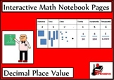 Decimal Place Value Lesson for Interactive Math Notebooks