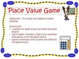 Decimal Place Value Mat Game