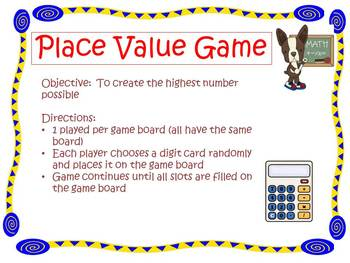 Decimal Place Value Mat Game By Kristin Dammacco Tpt