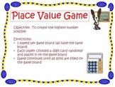 Decimal Place Value Mat Game