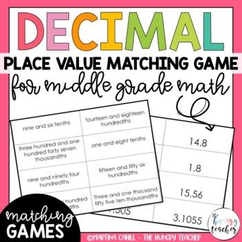 Decimal Place Value Math Center Word Form Standard Form Equivalent