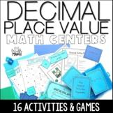 Decimal Place Value Math Centers Bundle