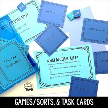 Decimal Place Value Math Centers Bundle
