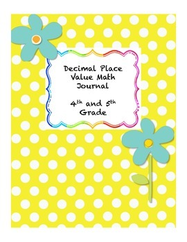Decimal Place Value and Rounding Math Journal