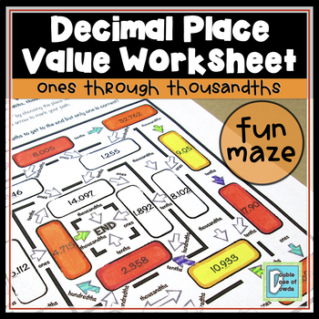 Decimal Place Value Maze