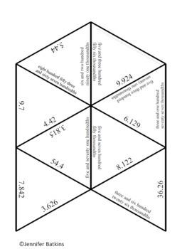 Decimal Place Value Number Names ( Word Form ) Math Center