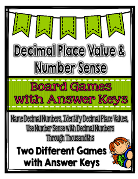 Decimal Place Value & Number Sense Board Games {Great for Centers}