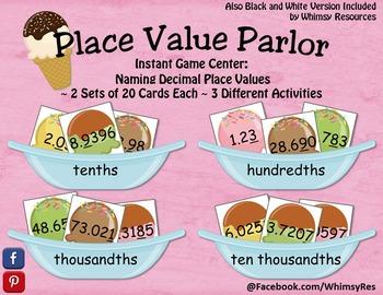 Decimal Place Value Parlor Ice Cream