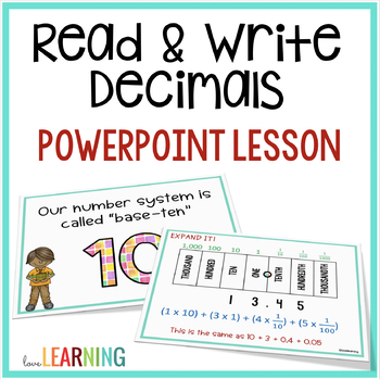 Decimal Place Value PowerPoint Standard Word And Expanded Form