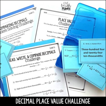 Decimal Place Value Practice: 3 Levels of Decimal Practice