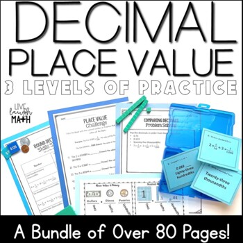 Decimal Place Value Practice: 3 Levels of Decimal Practice