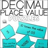 Decimal Place Value Puzzles