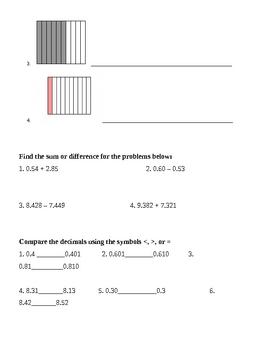 Decimal Place Value Quiz