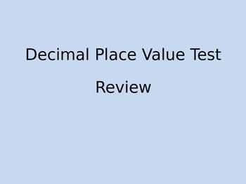 Decimal Place Value Review