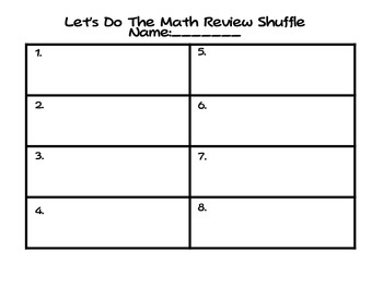 Decimal Place Value Review Shuffle