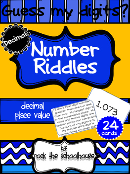 Decimal Place Value Riddle Cards