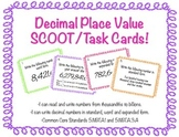 Decimal Place Value SCOOT/Task Cards