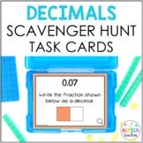 Decimal Place Value Scavenger Hunt Task Cards