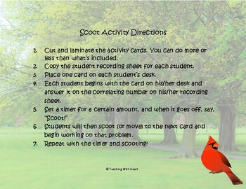 Decimal Place Value Scoot Activity/Task Cards