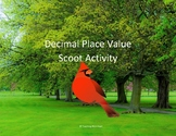 Decimal Place Value Scoot Activity/Task Cards - Digital Le