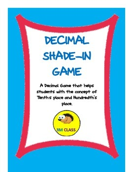 Decimal Place Value Shade In Game