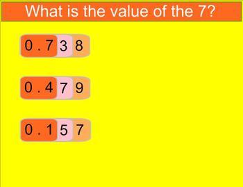 Decimal Place Value Smartboard Lesson