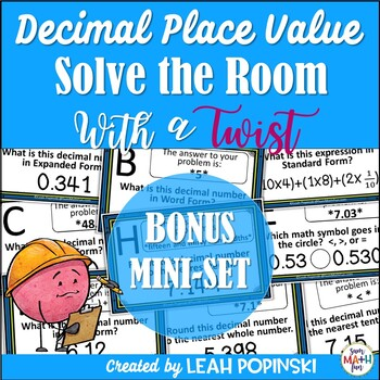 Decimal Place Value Solve the Room with a Twist