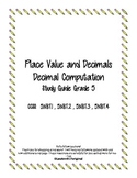 Decimal Place Value Study Guide 5.NBT.1 - 5.NBT.4