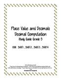 Decimal Place Value Study Guide 5.NBT.1 - 5.NBT.4