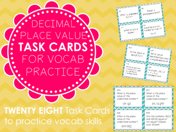 Decimal Place Value Task Cards